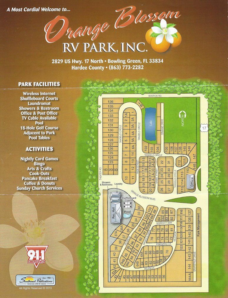 Orange Blossom RV Park Brochure