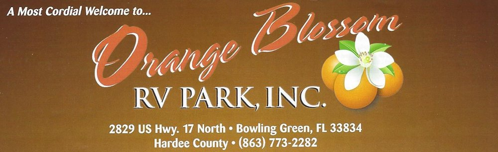 Orange Blossom RV Park, 2829 US Hwy 17 North, Bowling Green, FL 33834, Hardee County, 863-773-2282